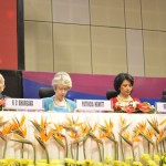 Patricia Hewitt & Renu Khator at 6th Vibrant Gujarat Global Summit 2013- Mahatma Mandir, Gandhinagar Gandhinagar, Gujarat, India.