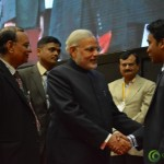 Shri Narendra Modi Meets Youngest CEO Suhas Gopinath at Convention by Vivekananda Yuva Parishad- Vibrant Gujarat Summit 2013-Gandhinagar Gandhinagar, Gujarat, India.
