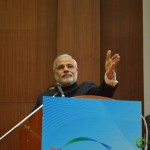 Shri Narendra Modi addressing youth at Convention by Vivekananda Yuva Parishad- Vibrant Gujarat Summit 2013-Gandhinagar Gandhinagar, Gujarat, India.
