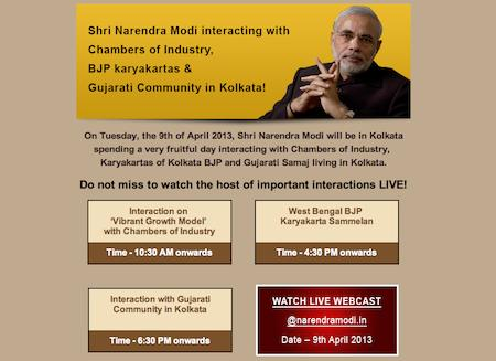 narendra-modi-live-kolkata-gujarati-community-9-april-2013