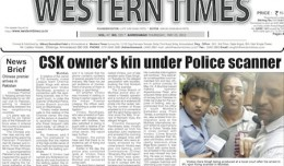 23 May 2013- Western Times English : Daily English News Paper from Gujarat on Gandhinagar Portal