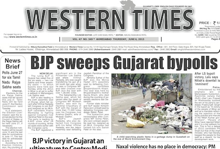 6 June 2013- Western Times English : Daily English News Paper from Gujarat on Gandhinagar Portal