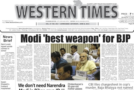 8 June 2013- Western Times English : Daily English News Paper from Gujarat on Gandhinagar Portal