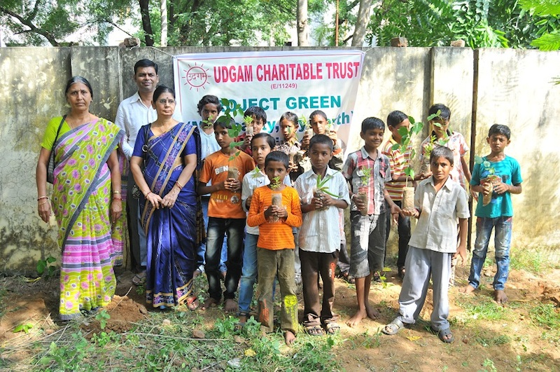 Udgam Trust - Project Green- My Beauty, My Earth on Teachers Day. Gandhinagar, Gujarat, India.
