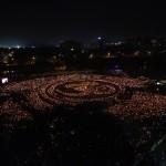 Gandhinagar Cultural Forum-2103 Maha Aarti Arial View Images. Gandhinagar, Gujarat, India.