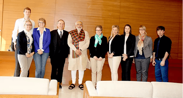 Narendra Modi meets delegation from Germany's Hof University