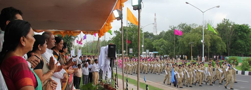 Gujarat CM at the State-wide 'Women's Empowerment Parade' at Gandhinagar Gandhinagar, Gujarat, India.