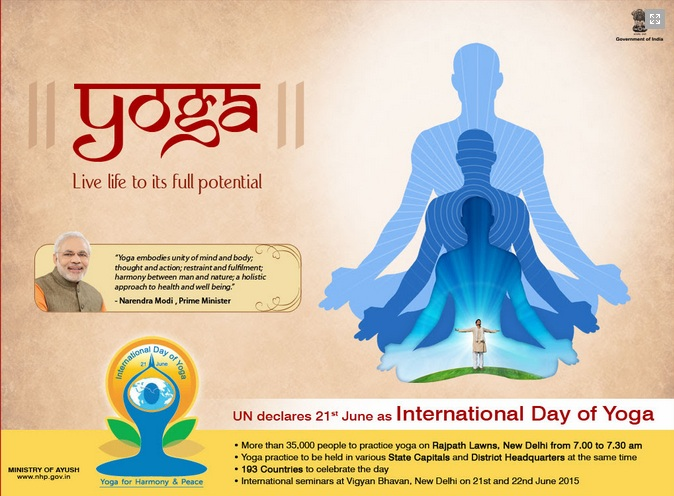 celebration_international_yogaday_2015_gujarat Gandhinagar, Gujarat, India.